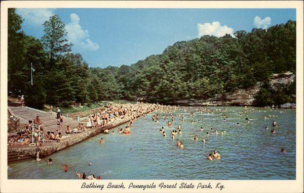 Bathing Beach And Lake Pennyrile Forest State Park Dawson