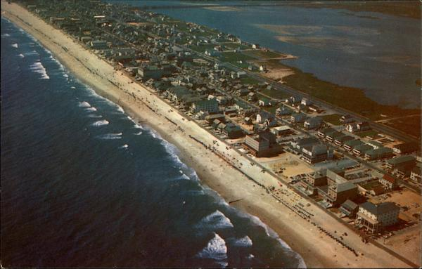 Hotels In Ocean City Md >> Aerial View of Atlantic Ocean, Isle & Sinepuxent Bay Ocean City, MD