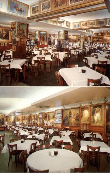 Interior Views, Haussner's Restaurant Baltimore Maryland