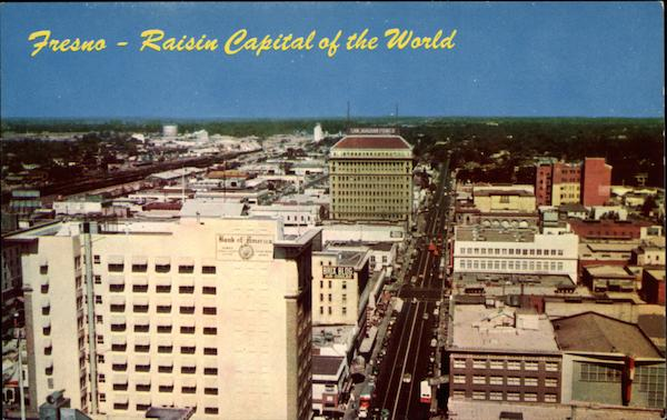View Of The Raisin Capital Of The World Fresno Ca