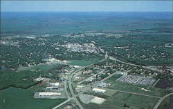 Aerial View of Crookston Postcard