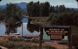 Picturesque site of Idaho's first mission Postcard