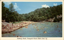 Bathing Beach and Lake, Pennyrile Forest State Park Postcard