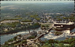 Aerial View of the Falls Postcard