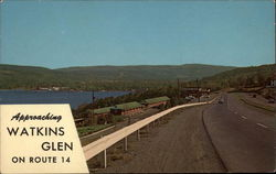 Approaching Watkins Glen on Route 14