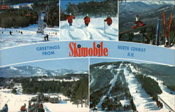 Skimobile Postcard