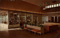 Gift Shop and Lobby, Glass House Restaurant Postcard