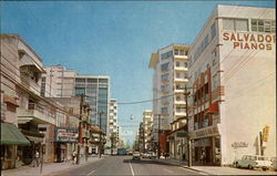 Street Scene at Stop 22nd, Ponce de Leon Avenue Postcard