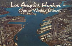 Los Angeles Harbor Postcard
