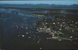 Aerial View of Resort, Penobscot Bay & Camden Hills