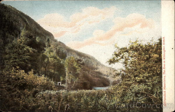 Adirondack Mountains, The River in Wilmington Notch New York