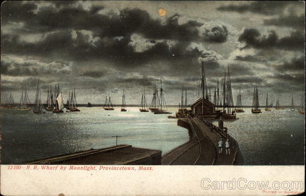 RR Wharf by Moonlight Provincetown Massachusetts