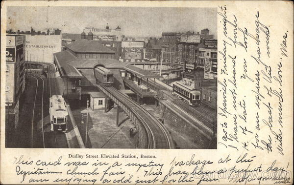 Dudley Street Elevated Station Boston Massachusetts