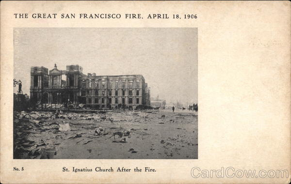St. Ignatius Church After the Great Fire San Francisco California