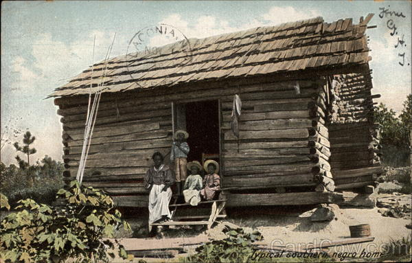 Typical Southern Negro Home Black Americana