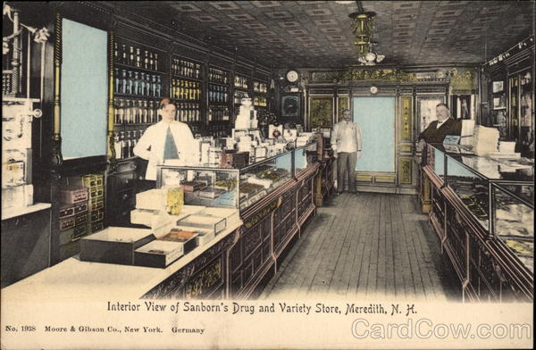 Interior View of Sanborn's Drug and Variety Store Meredith New Hampshire