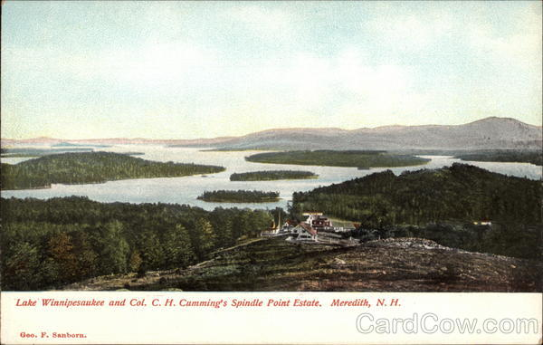 Lake Winnipesaukee and Col. C. H. Cumming's Spindle Point Estate Meredith New Hampshire