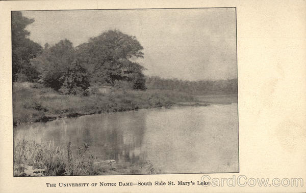 The University of Notre Dame - South Side St. Mary's Lake Indiana