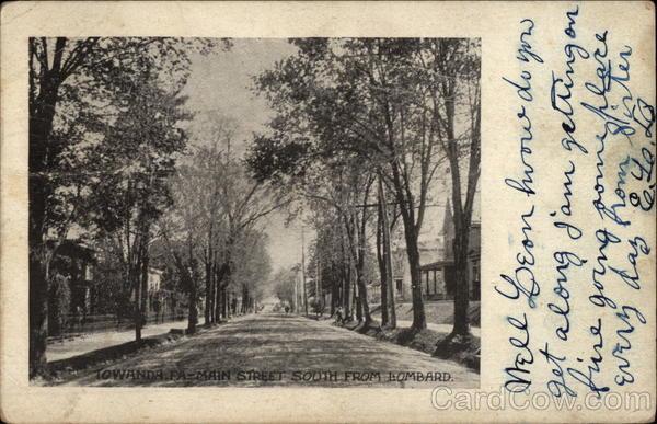 Main Street South from Lombard Towanda Pennsylvania