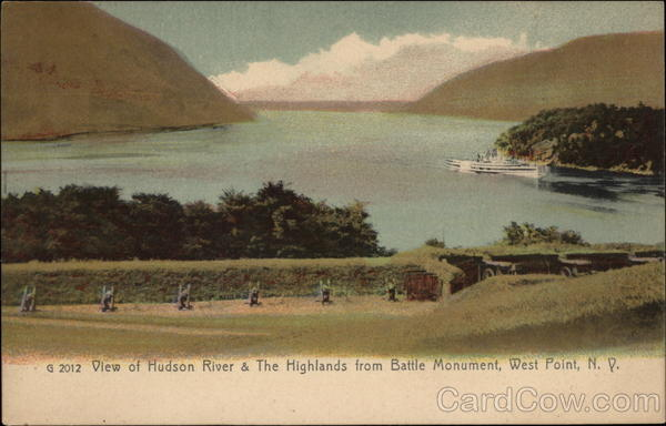 View of Hudson River & The Highlands from Battle Monument West Point New York