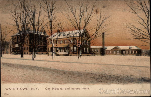 City Hospital and nurses home Watertown New York