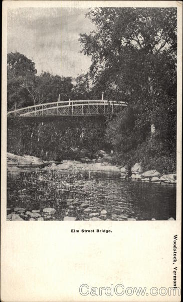 Elm Street Bridge Woodstock Vermont