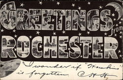 Greetings from Rochester Postcard