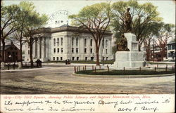 City Hall Square, showing Public Library and Soldiers' Monument