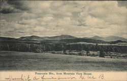 Franconia Mts., from Mountain View House Postcard