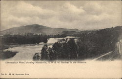 Connecticut River, Showing Mt. Gardner in the Distance