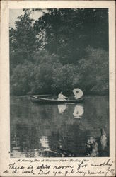 A Morning Row at Riverside Park Postcard