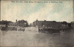 West End Pier, Great Bridge Wrecked by Flood