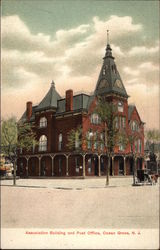 Association Building and Post Office Postcard