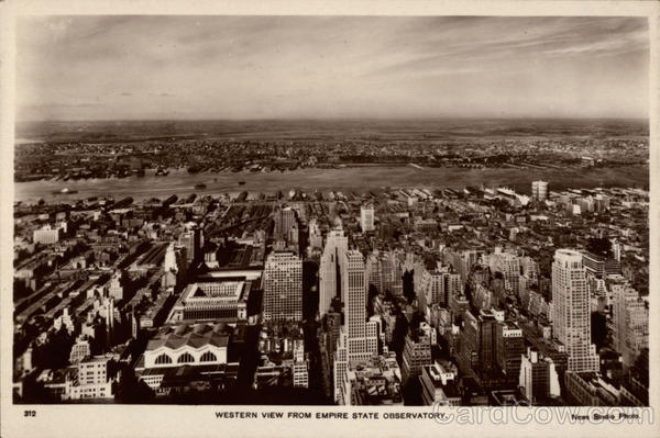 Western View from Empire State Observatory New York
