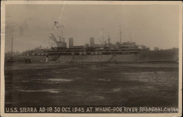 USS Sierra at Whang-Poo River Shanghai China Navy