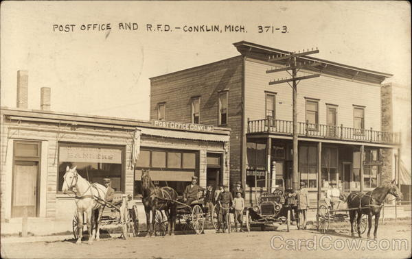 Post Office and RFD Conklin Michigan