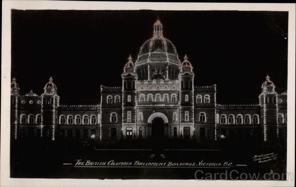 The British Columbia Parliament Buildings Victoria Canada