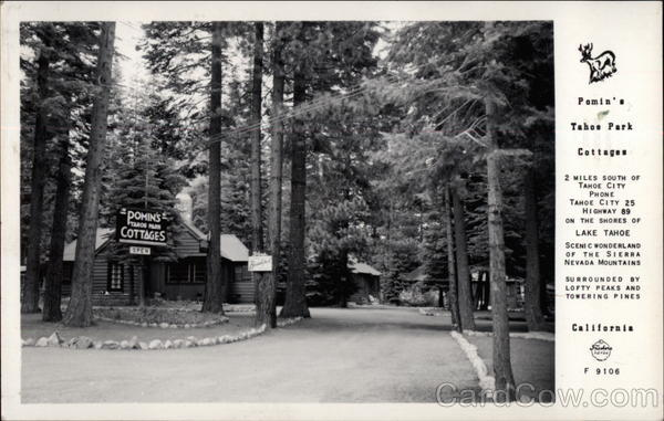 Pomin's Tahoe Park Cottages Lake Tahoe California
