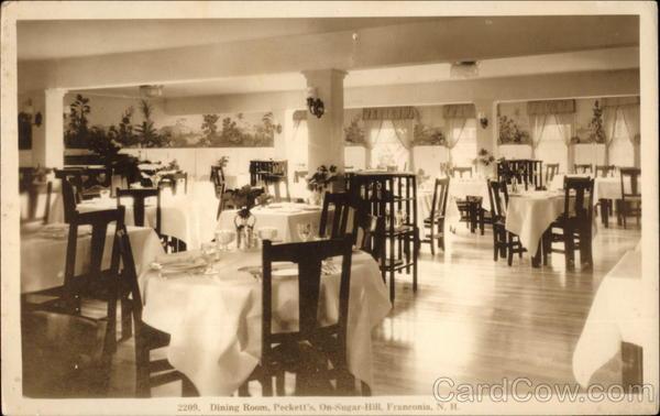 Dining Room Pecketts On Sugar Hill Franconia NH