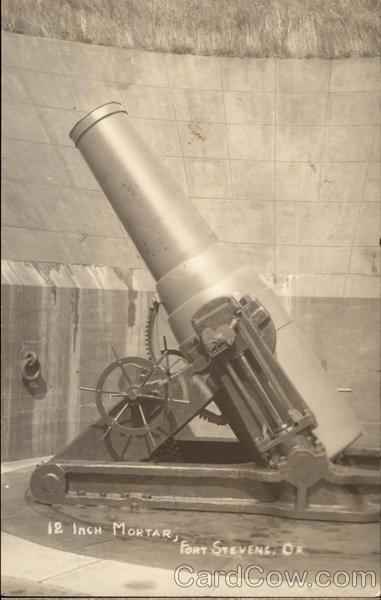 12 Inch Mortar Fort Stevens Oregon