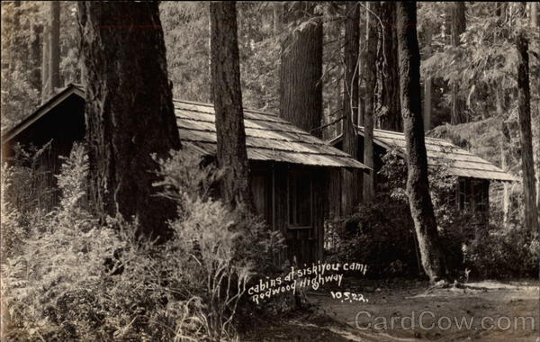 Cabins at Siskiyou Camp Redwood Highway California