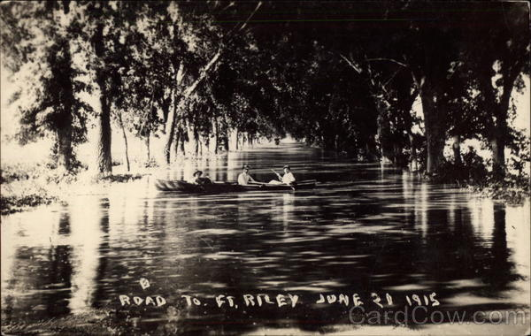 Flooded Road to Ft. Riley Fort Riley Kansas