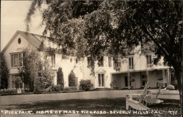 Pickfair Home Of Mary Pickford Beverly Hills Ca