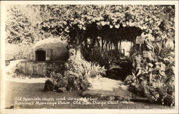 Old Spanish Oven and Grape Arbor, Ramona's Marriage Place San Diego California