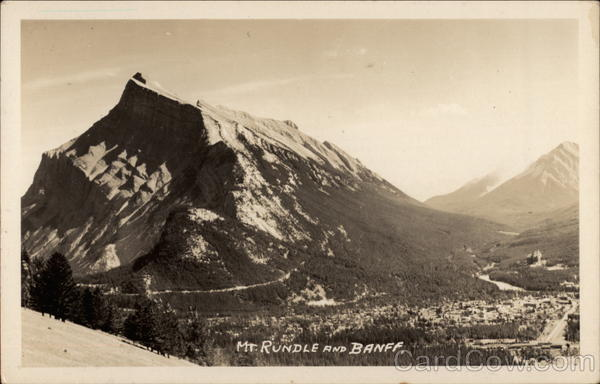 Mt. Rundle and Banff Canada British Columbia