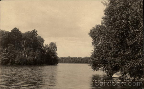 Channel Between the Island, Stone Lake Crandon Wisconsin