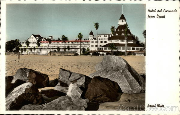 Hotel del Coronado from Beach California