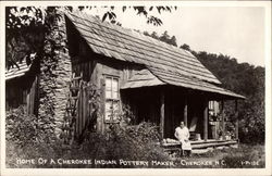 Home of a Cherokee Indian Pottery Maker
