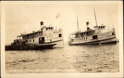 Steamer on Moosehead Lake Postcard