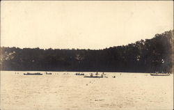 Canoes on the Lake